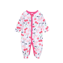 2016 Newborn Brand Baby Clothes Pajamas Pink Baby Rompers Infant cotton Long Sleeve Jumpsuits Spring Autumn Baby Clothing Set
