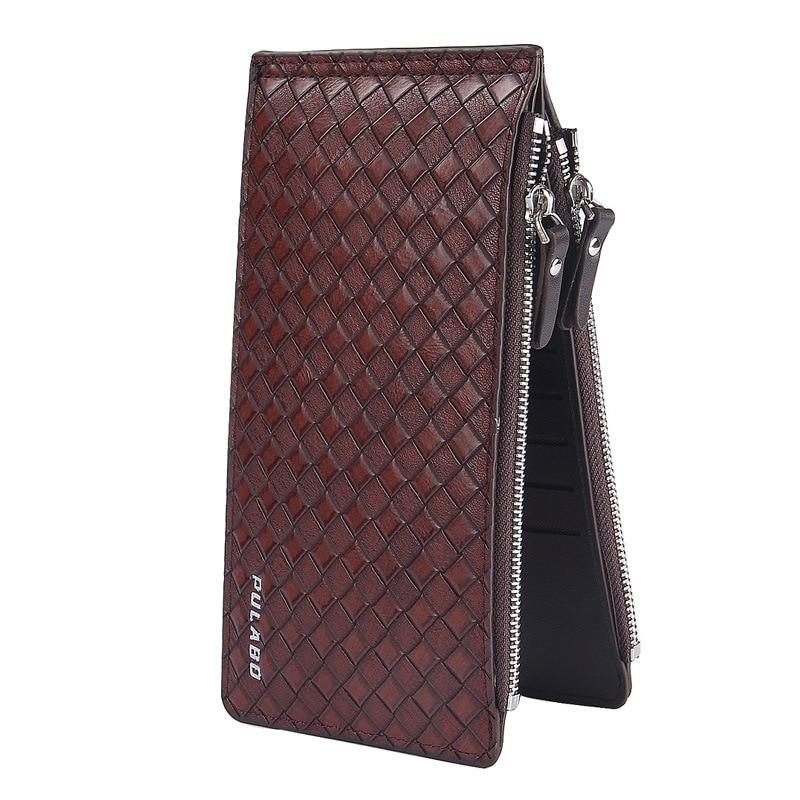 Hot Famous Brand Double Zipper Double-deck Folding Men Long Wallets, Large Capacity 18 Card Slot Wallet Coin Clutch Bag Purse 10x for asus x52e x53j x53s x54 x54h laptop ac dc power jack port socket connector plug