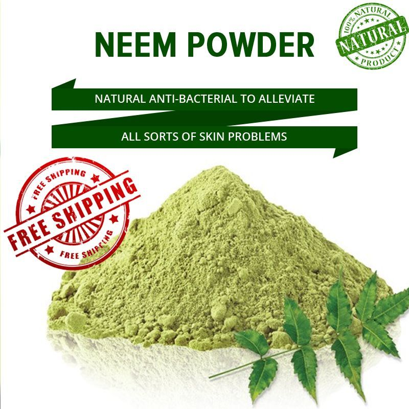 Free Shipping Neem Powder 100% Organic & Chemical Free Skin Cleanser 60G