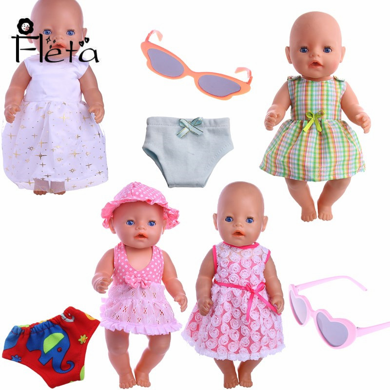 New Doll Clothes Princess Dress Suitable for 18-inch American Girl Doll or 43 cm Baby Born Doll (B1160 has no inventory) american girl doll clothes princess anna dress doll clothes for 16 18 inch dolls baby doll accessories x 3