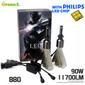 90W 11700LM with Genuine Philips chip Car LED Headlight Kit Set H1 H3 H4 H7 H9 H11 9004 9005 HB3 9006 HB4 9007 HB5 9012 H13 9008