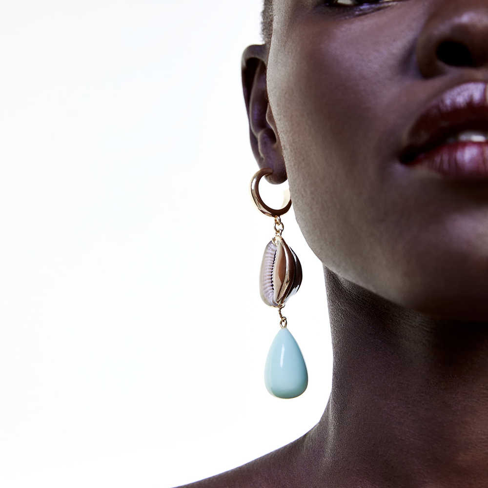ZA 2019 Fashion Colorful Round Dangle Earring for Women New Design Boho Sea Shell Long Pendant Statement Jewelry Wedding Gifts