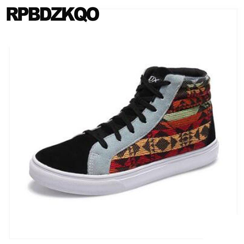 e2e7fbc5e352 Casual Grande Skate Haute Chaussures Brown En Daim Printemps Baskets  Semelle Marque 47 Appartements 11 Taille Nubuck Imprimé Mode Hommes ...