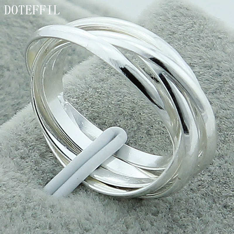 2019 925 Silver Color Women's Engagement Polycyclic Rings The New Valentine's Day Gift Ideas Ring Hot Sale