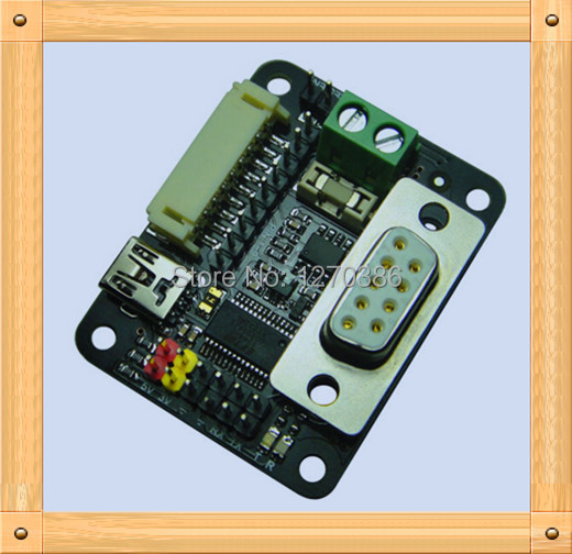 Free Shipping!!!  5pcs RS485 I2C Servo Controller / USB RS232 / RS485 adapter plate / adapter module usb to rs485 module black