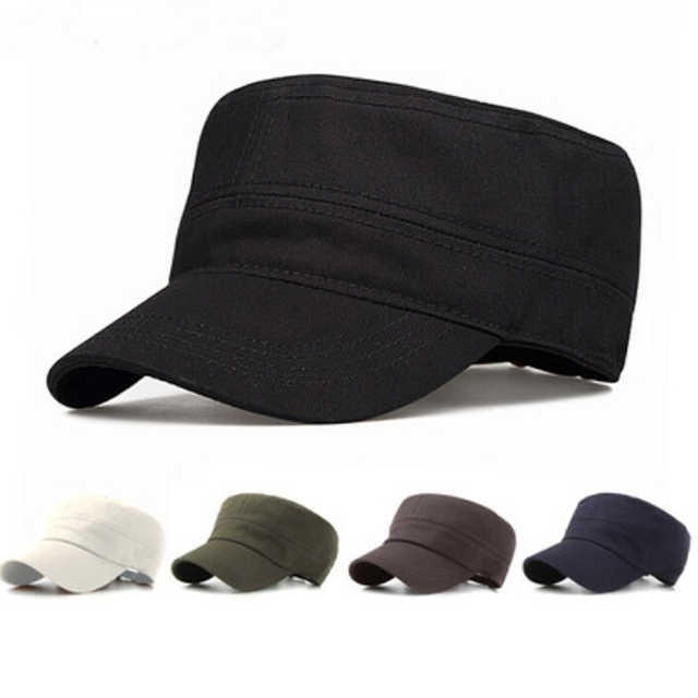 11fe9e98 Fashion Unisex Men Women Casual Baseball Caps Sun Visor Army Flat Top hats  Military Soldier Hat Sport Cap 5Colors