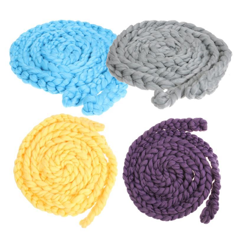 Nouveau-né couverture pour bébé Rond Grand Crochet Tricot Tricoté ...