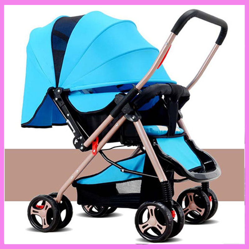 Free Shipping Lightweight Baby Stroller Folding Portable Baby Carriage Buggy Pram Newborn Infant Travel Reverse Handle Pushchair china cheap lightweight baby stroller 5 9kg 7 free gifts folding carriage buggy pushchair pram newborn bb car shipping russia