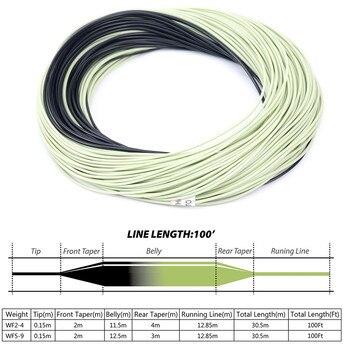 Maximumcatch Linea di Pesca A Mosca Doppio Colore Peso In Avanti Floating 100FT Linea di Volo Con Sinking Tip Floating Fly Line