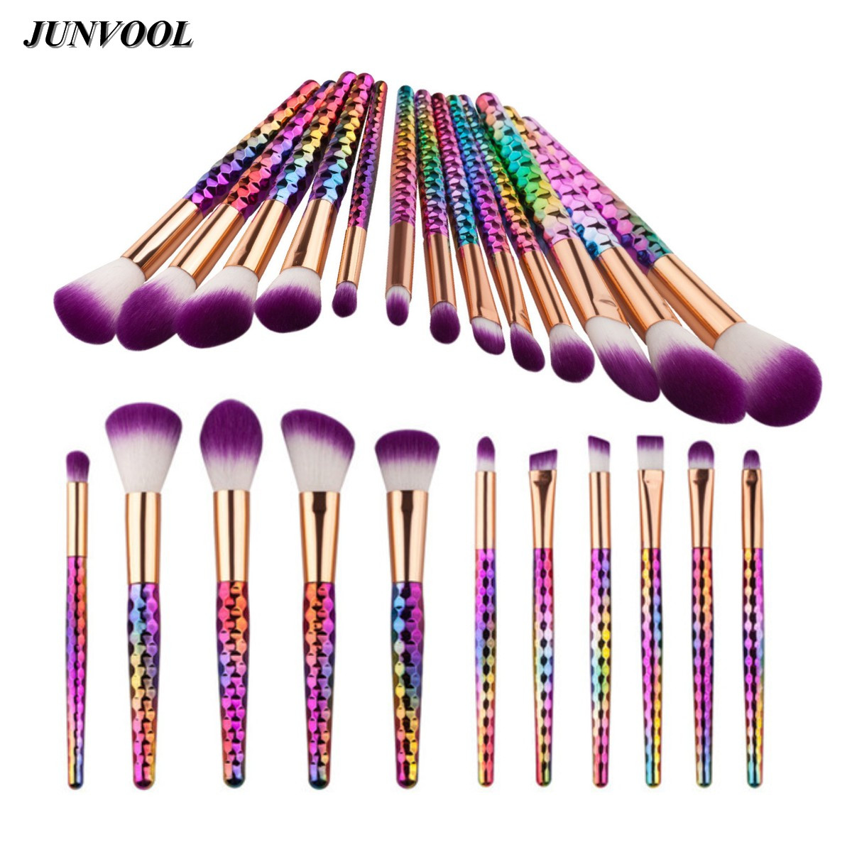 Pensulă cosmetică Royal Purple Fantezie multicolore Machiaj Perii Set Fundația Blusher Fard de Ochi Blending Rainbow Make Up Beauty