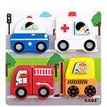 Игрушки для маленьких Детей Новый Мультфильм Животных/Автомобиль 3D Головоломки Деревянные Игрушки Сцены Головоломки Ребенок Образовательных Обучения Подарок На День Рождения