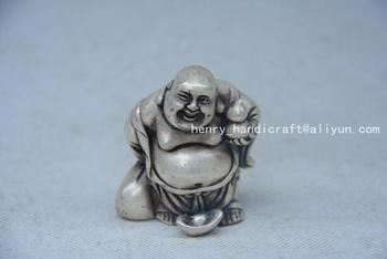 Rare OldQingDyansty Silver Buddha Statue ,#01,best collection&adornment,free shipping