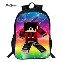 Children School Bag Minecraft Cartoon Backpack Pupils Printing School Bags Hot Game Backpacks For Boys And