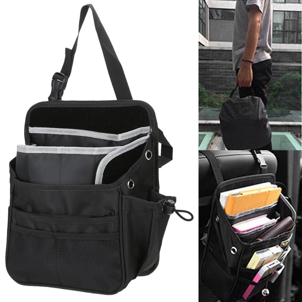 1 Pcs Back Bag Oxford Auto Car Chair Seat Organizer Bag Multi Pocket Arrangement Pouch Travel