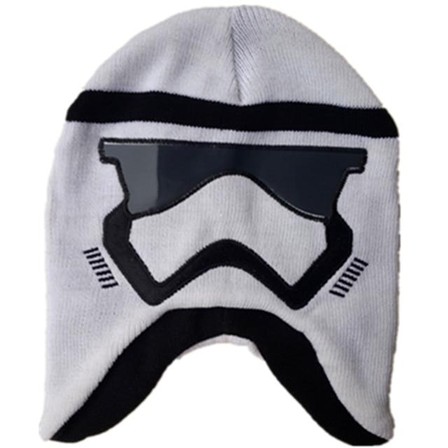 Wars Darth Vader stormtrooper punto historieta gorros moda para niños niño  Cap invierno cálido skullies hip 3e67633c9d5