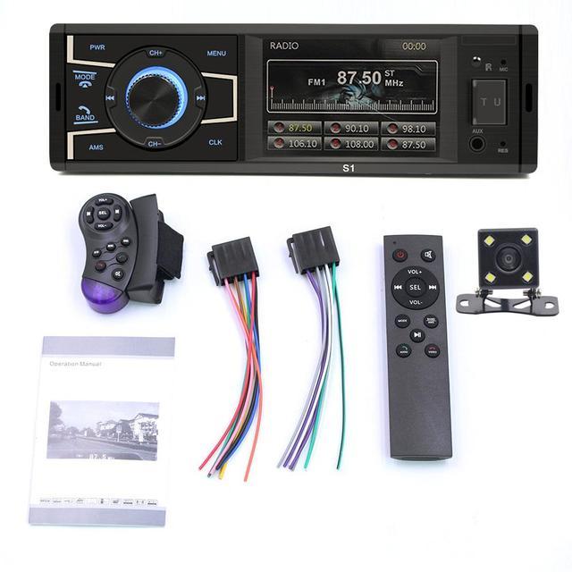 Aux 3,2 дюймов 1 Din WIN-CE автомобильный стерео MP5 плеер экран bluetooth-гарнитура fm-радио USB AUX-in No/с камерой заднего вида