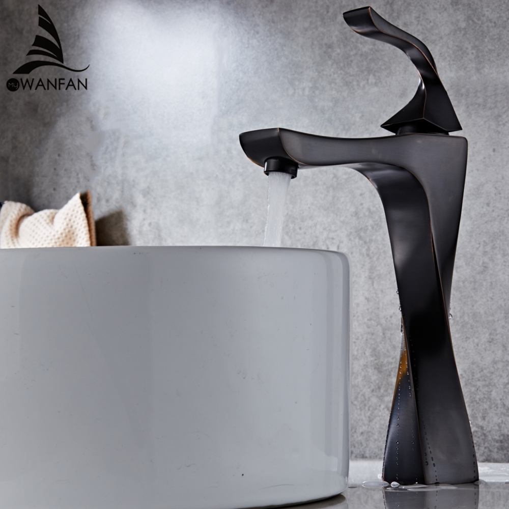 Basin Faucets Elegant Sink Mixer Tap Classic Style Single Handle Single Hole Faucet Deck Mounted Bathroom