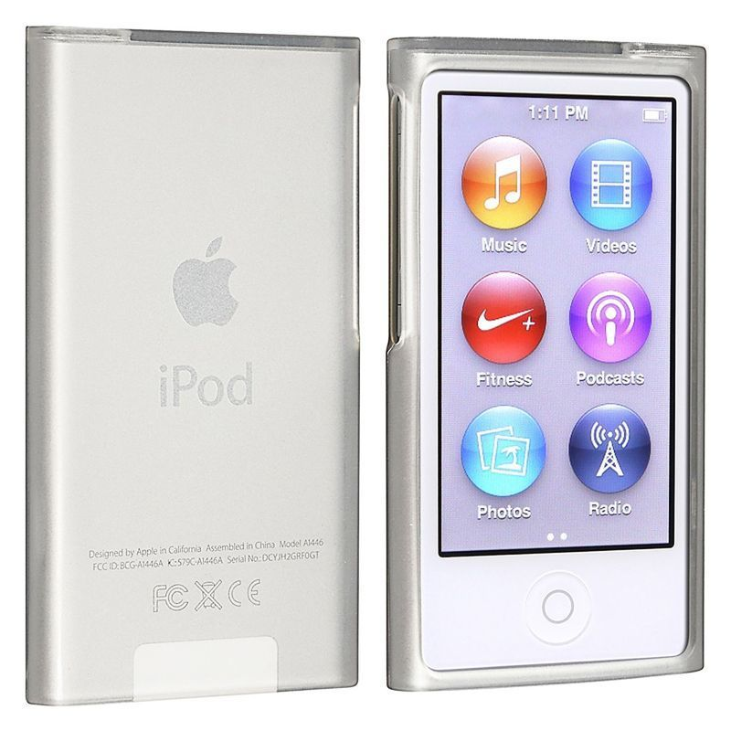 50X Frost Clear Soft TPU Gel Rubber Silicone Case For Apple iPod Nano 7th Gen 7
