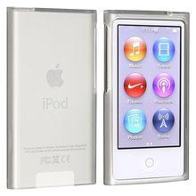50x geada claro macio tpu gel borracha silicone caso para apple ipod nano 7th gen 7 7g nano7 pele capa coque fundas atacado