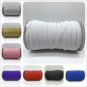 5yards/Lot 10mm Sewing Elastic Band Colourful High Elastic Fiat Rubber Band Waist Band Stretch Rope Elastic Ribbon