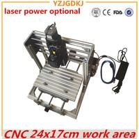 CNC 2417 Mini PCB Milling Machine High Power Laser Wood Carving CNC Router GRBL Control DIY