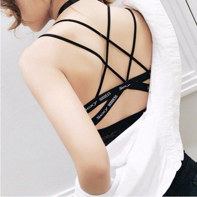 01c7ef6b72 Girls Women Invisible Letter Seamless Bras Padded Push Up Wireless  Brassiere Full Cup Underwears Bralette