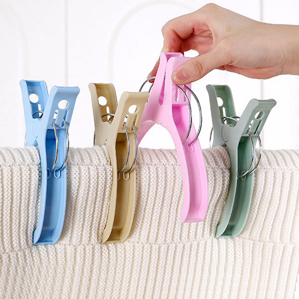 1 Pcs Colour laundry clips Large Bright Plastic Clothespin To Sunbed Quilt DIY Clothes Paper Peg Pin Clothespin Craft Clips Nibbler