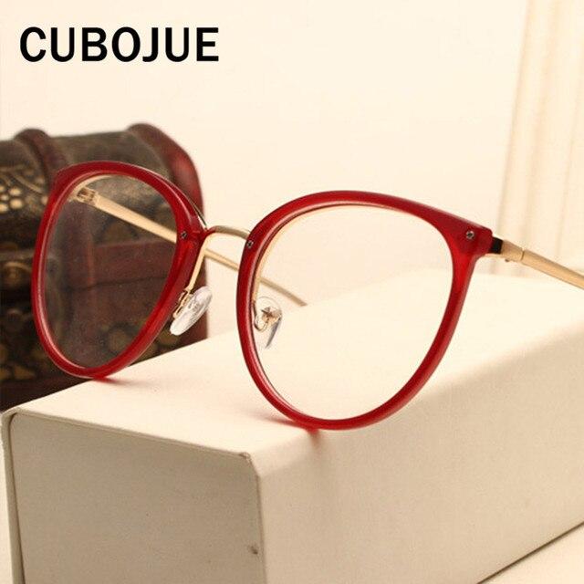 9e6d21bf3 Cubojue Marca Armação de óculos Feminino Mulheres Grau de Pontos Redondos  Óculos de Dioptria De Miopia