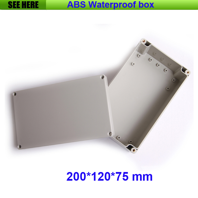 Free Shipping Junction Box Instrument Housing Sealed Box Plastic Housing Waterproof Plastic Enclosure Case 200*120*75mm 1 piece free shipping plastic enclosure for wall mount amplifier case waterproof plastic junction box 110 65 28mm