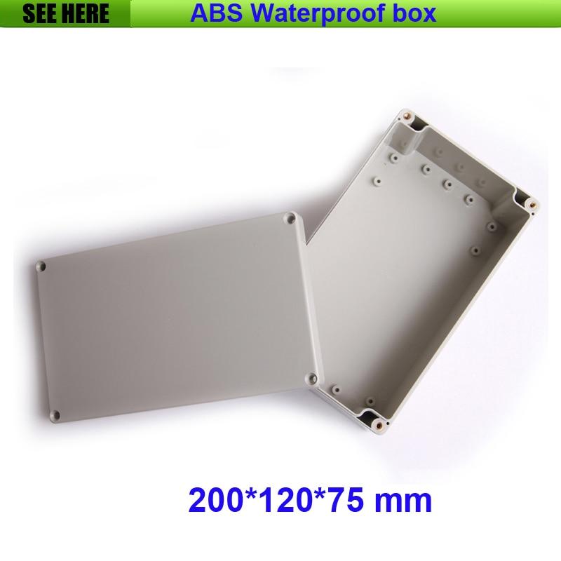 Free Shipping Junction Box Instrument Housing Sealed Box Plastic Housing Waterproof Plastic Enclosure Case 200*120*75mm