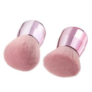 Image 5 - BBL Pro розовая Кисть для макияжа лица/тела/щеки Кабуки мягкая и пушистая портативная Кисть для макияжа для смешивания