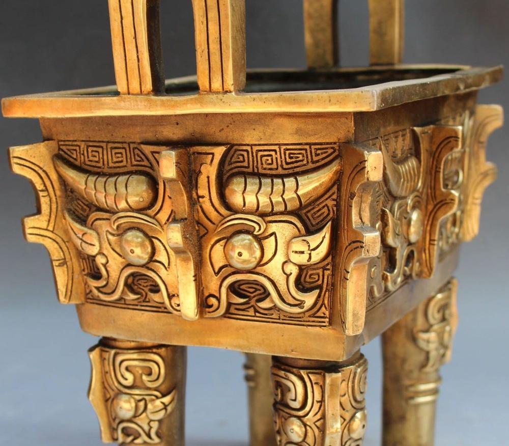 Chinese Dynasty Palace Bronze Incense Burner 5