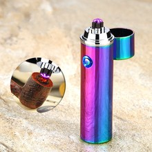 New Electric Double Pulse Arc Lighter Tobacco Pipe USB Lighter Smokeless Windproof Cigarette Cigar Lighters Rechargeable briquet