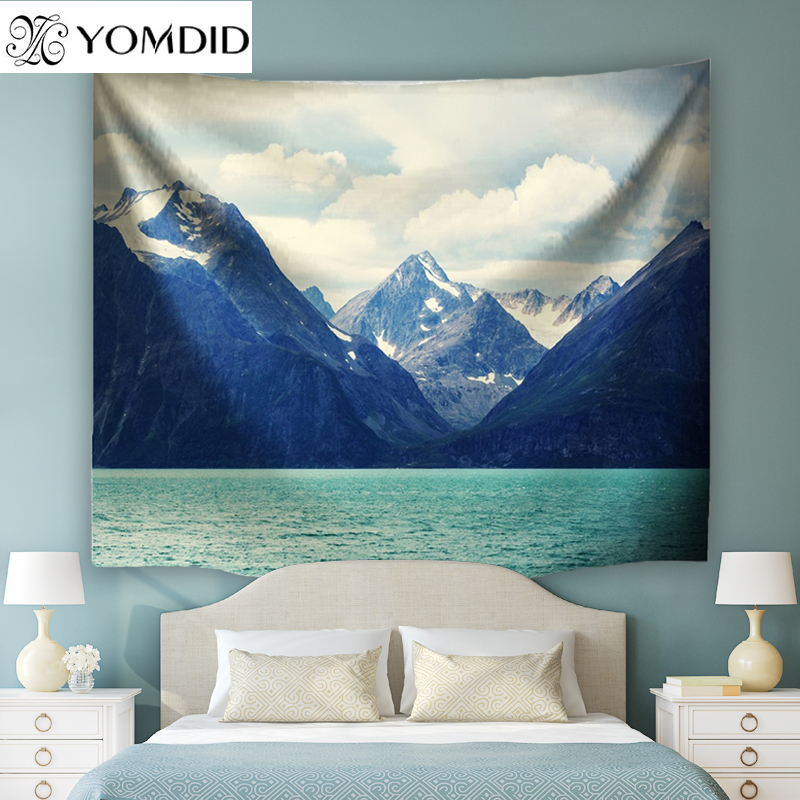 Norway Scenery Wall Tapestry Boho Hanging Tapestries Indian style Bedspread Beach Towel Table Cloth Yoga Mat