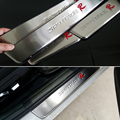 Free shipping Stainless Steel Door Sill Scuff Plate car accessories For Kia sportage 2011 2012 2013 2014