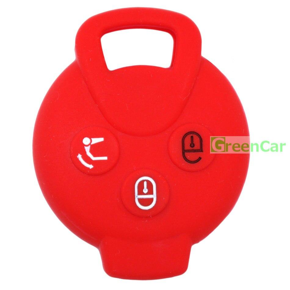 1 unids 3 Botones Car Key Case Cover para Benz Smart Car City - Accesorios de interior de coche - foto 5