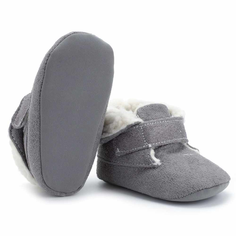 Winter baby jongens meisjes schoenen rusland winter zuigelingen warme schoenen Faux fur meisjes baby booties Leer jongen baby laarzen