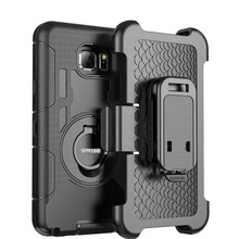 3 in 1 Military Belt Clip Stand Rugged Armor Case For Samsung Galaxy S7 Edge S6 for iPhone 7 6 6s Plus 5 Shockproof Phone Covers