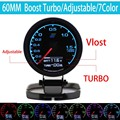 7-Color-in- Gauge Turbo Boost Gauge GRedi 7 Light Colors LCD Display With Voltage Meter 60mm 2.5 Inch With Sensor Racing Gauge