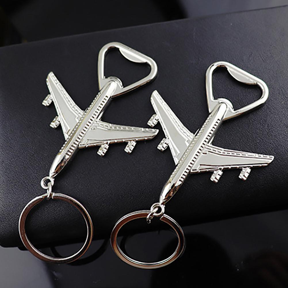 Hot Metal Model Aircraft Airplane Pendant Car Key Ring Holder Keychain Bottle Opener