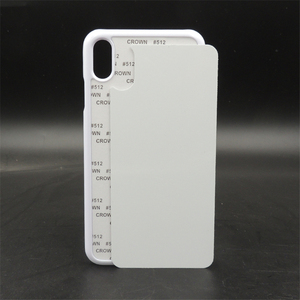 Image 3 - Customerized 2D Sublimation Blank Plastic Case Hard Cover For iPhone X Xs Xs max XR aluminium plate insert Heat Transfer 10pcs