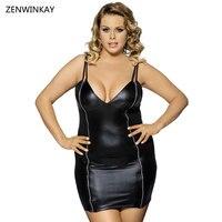 2018 Female Pathwork Black Sex Langerie Women Babydoll Sexy Erotic Dress Plus Size Porn Lingerie Teddy Bodysuit Costumes