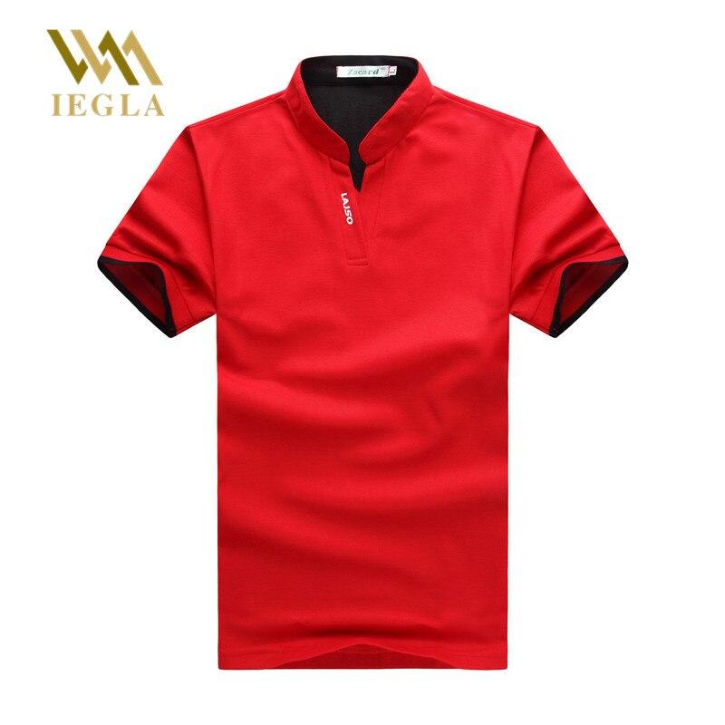 fecf82a9c36 Мужские Поло рубашка человек Твердые Мужская Футболки-поло для мужчин бренд  хлопок короткий рукав Camisas Мужские Поло s Стенд воротник мужско.