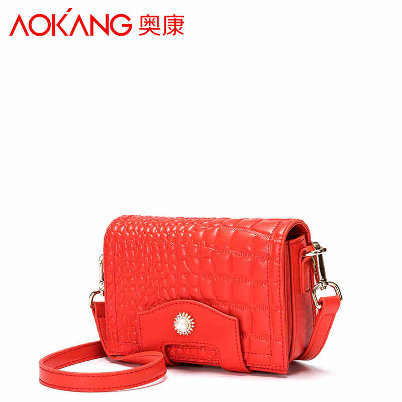 Aokang 2017 new arrival lady handbag genuine leather women bags Euramerican style fashion pattern female handbags free shipping 2015 lady s fashion new arrival women s handbag 100% leather shoulder bags retro messenger bags free shipping