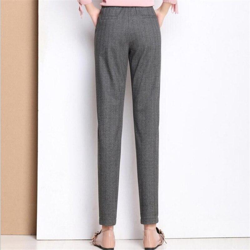 Alta Calientes Grueso De Invierno La Pantalones Cintura Gris Mujeres Terciopelo Las 2019 Tamaño Gruesa Oficina Lana Lápiz Plus 1RqPxaq6w