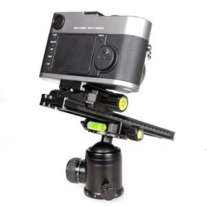 Image 4 - XILETU LCB 24B Track Dolly Slider фокусировочная фокусировка рельса слайдер и зажим с QR пластиной подходит Arca Swiss для DSLR камеры Nikon Canon