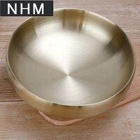 NHM 1 pcs Double thickened golden cold noodle bowl instant noodle soup rice noodle bowl