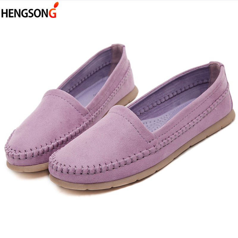 2017 Spring Autumn Women Flats Shoes Lady Loafers Soft Round Toe Shoes Slip On Flats Casual Shoes Driving Shoes OR913400 newest lady spring autumn shoes slip on lady soft leather flat platform fashion casual shoes women round toe loafers size 34 43