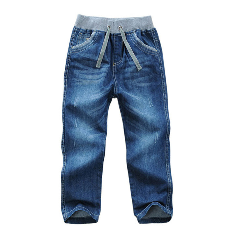 Kids Boys Jeans pants cotton children full denim pants kid clothing spring autumn boys casual trousers for 2-11 years DQ294 kids boys jeans trousers 100% cotton 2017 spring autumn washed high elastic children s fashion denim pants street style trouser page 3