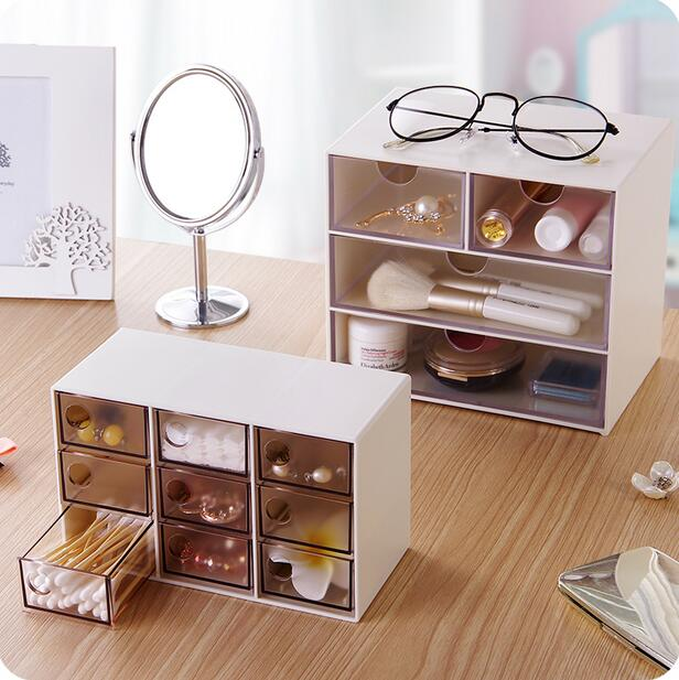 Japan Style Brief Desktop Storage Box Plastic Multi-layer Drawer Cosmetic Organizer